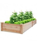 Wooden Vegetable Raised Garden Bed for Backyard Patio Balcony - Color: Wood - £107.65 GBP