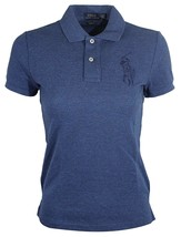 Ralph Lauren Women's Big Pony Skinny Fit Mesh Polo Shirt Cobalt blue - $65.44