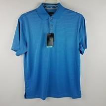 PGA Tour Men Airflux Pacific Coast Blue Polo Shirt Size Medium MSRP $55 - $39.95