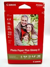 Canon PP-201 Photo Paper Plus Glossy II, 4x6 inch - 100 Sheets - $10.25