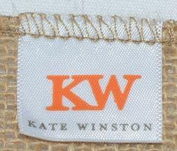 Kate Winston Brand Brown Burlap Monogram Black and White K Garden Flag image 4