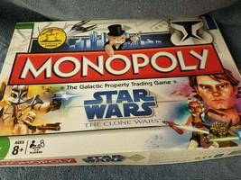 Star Wars The Clone Wars Monopoly Board Game..2008 Parker Brothers..Comp... - £16.27 GBP