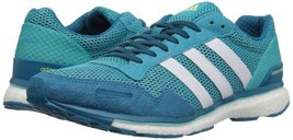 adidas Womens Adizero Adios Running Shoe Energy Blue/White/Energy Aqua B... - $116.85