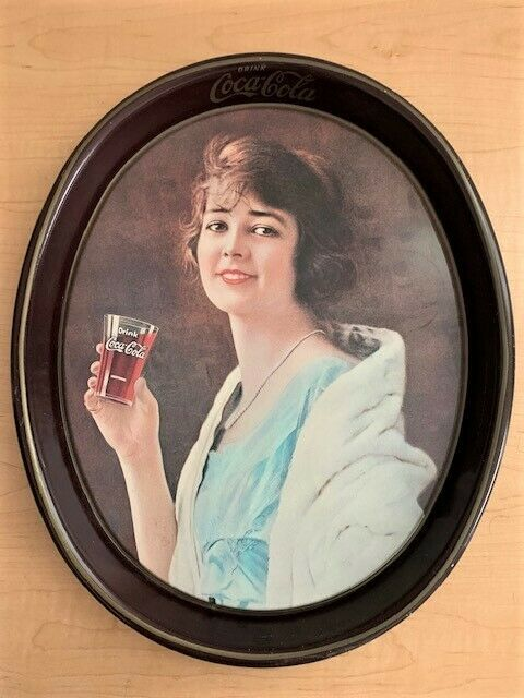 Primary image for Vintage 1973 Coca Cola Tin Serving Tray - Reprint of a 1923 Ad
