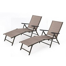 Cloud Mountain Adjustable Chaise Lounge Chair Recliner Outdoor Folding L... - $227.67