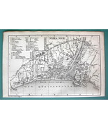 1875 MAP BAEDEKER City Plan - FRANCE Nice Nizza - $6.42