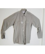 CHECKPOINTE UNISEX WORK UNIFORM SHIRT BEIGE UNISEX UNIFORM SHIRT - $15.67