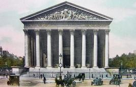 PARIS Madeleine Church France - 1900s Photo Chromotype Print Color - $10.33