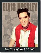 Portrait of Elvis Presley The King of Rock n Roll Music Musician Metal Sign - $20.95