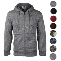 Men's Premium Athletic Soft Sherpa Lined Fleece Zip Up Hoodie Sweater Jacket image 1