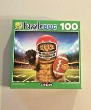 Puzzlebug Football Player Cat Jigsaw Puzzle Scratch my Quarterback 100 P... - $6.93