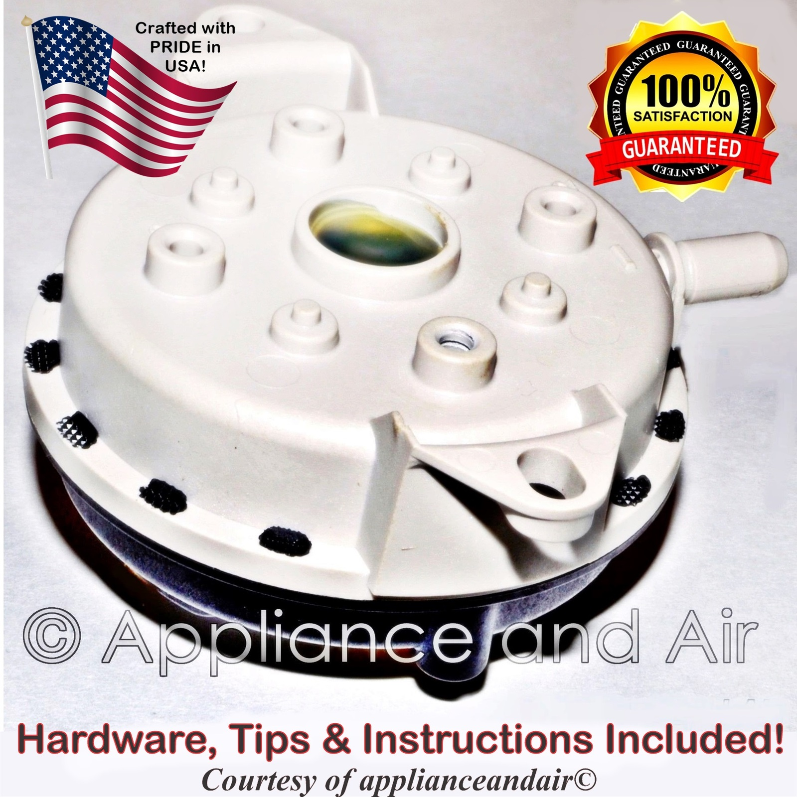 US Stove 80549 King/Ashley Pellet Air Pressure Switch Vacuum sensor + Instructio