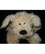Gund Animal Alley Puppy Dog Tan Shaggy Plush Stuffed Animal Black Nose 4... - $19.78