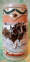Budweiser American Homestead 1996 Holiday STEIN Clydesdale  6.78 in. tall - $7.91
