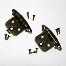 2 pcs AJAX 59151 HINGE bronze tone with screws vintage used Limited quan... - $3.95
