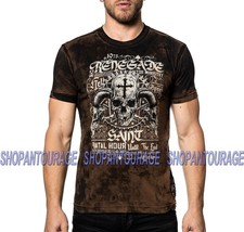 Affliction Motor Saint A19558 New Short Sleeve Graphic Fashion T-shirt For Men - $53.17+