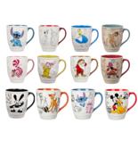 Disney Store Classic Mug Stitch Dopey Grumpy Cheshire Cat Alice Hook Dalmatians - $96.42