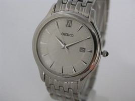 Seiko watch mens watches stainless steel kinetic movement SKK669 - $158.40