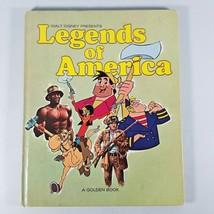 1969 Golden Book Walt Disney Legends of America Davy Crockett John Henry - $14.99