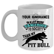 Cute Gift For Pitbull Lovers Coffee Mug, My Pit Bull Cup - $17.99