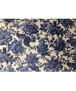"Cream Blue Floral Throw Pillow Cover 16"" x 16"" (This is the cover only) - $10.88"