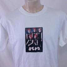 Vintage 1999 Devo T Shirt 90s Tour Concert Band Tee Cramps Punk Cure Cla... - $49.99