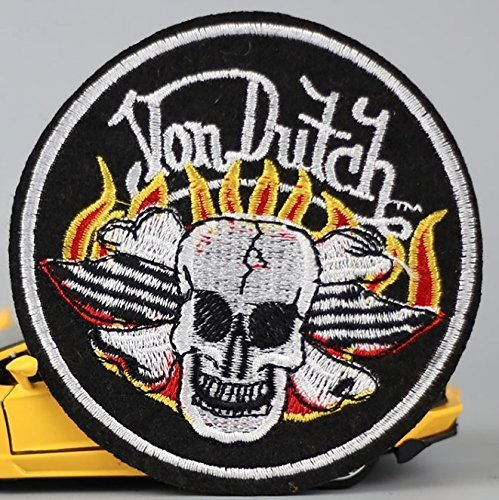 Skull Skeleton Bone Ghost Outlaw Bike Rider Embroidered Patch Size 3 1/4 x 3 1/4
