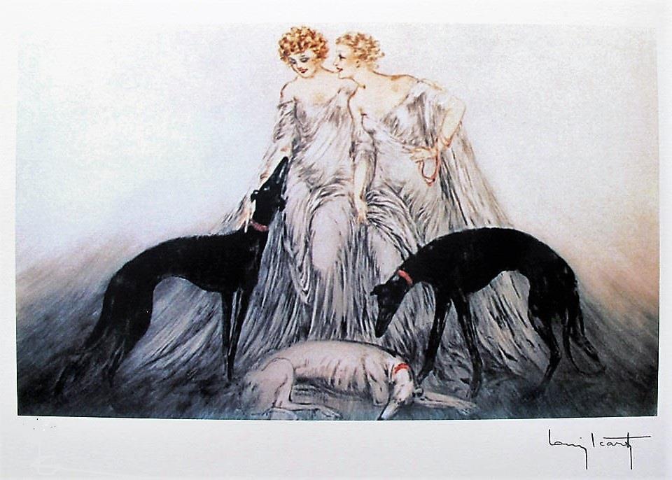 Butterfly girl metamorphosis art deco 8 x 10 reprint Gatsby Icart retro print