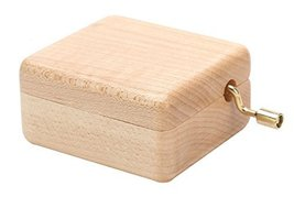Wooden Handcrank Music Box, Decoration for Home Living Room or Bedroom - £22.22 GBP