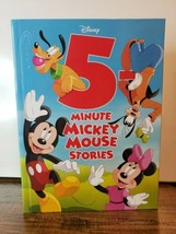 5-Minute Mickey Mouse Stories (5-Minute Stories) Hardcover New bed time ... - $12.00