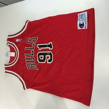 Vintage Chicago Bulls Dennis Rodman Champion Jersey NBA 90s Youth Large ... - $59.39