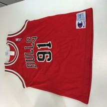 Vintage Chicago Bulls Dennis Rodman Champion Jersey NBA 90s Youth Large ... - $59.39