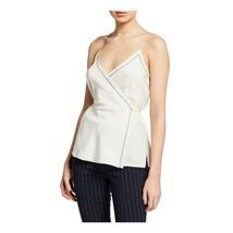 Rag & Bone Chalk Cream Silk Lina Wrap Tank Sleeveless Blouse Top 2 NWT $350 - $123.26