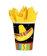 Fiesta Fun Cinco de Mayo Mexican Theme Party 9 oz. Paper Cups - £6.14 GBP