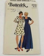 Butterick 4016 Sewing Pattern Vintage Junior Teens Dress Size  13  14  U... - $6.99