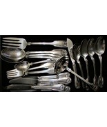 Reed & Barton Colonial Shell Flatware Lot 19 / Spoons Forks Knives Servi... - $113.85