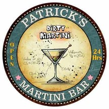 PATRICK'S Martini Bar Round Metal Sign Kitchen Bar Game Wall Décor R1410... - €22,04 EUR+