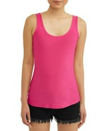 No Boundaries Women's Juniors Scoop Tank Top Shirt Medium (7-9) Fuchsia Burst - $8.45