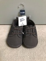 NWT Oshkosh Baby B'gosh 4 (9-12M) Gray Wool/Faux Suede Crib Shoes - $19.79