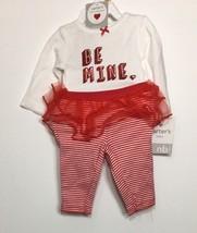 Carters Baby Girl Be Mine Valentine Heart Bodysuit Tutu Legging Set Newborn - $10.58