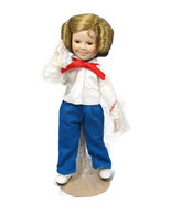 Danbury Mint Shirley Temple Captain January Dolls of the Silver Screen 1... - $61.37