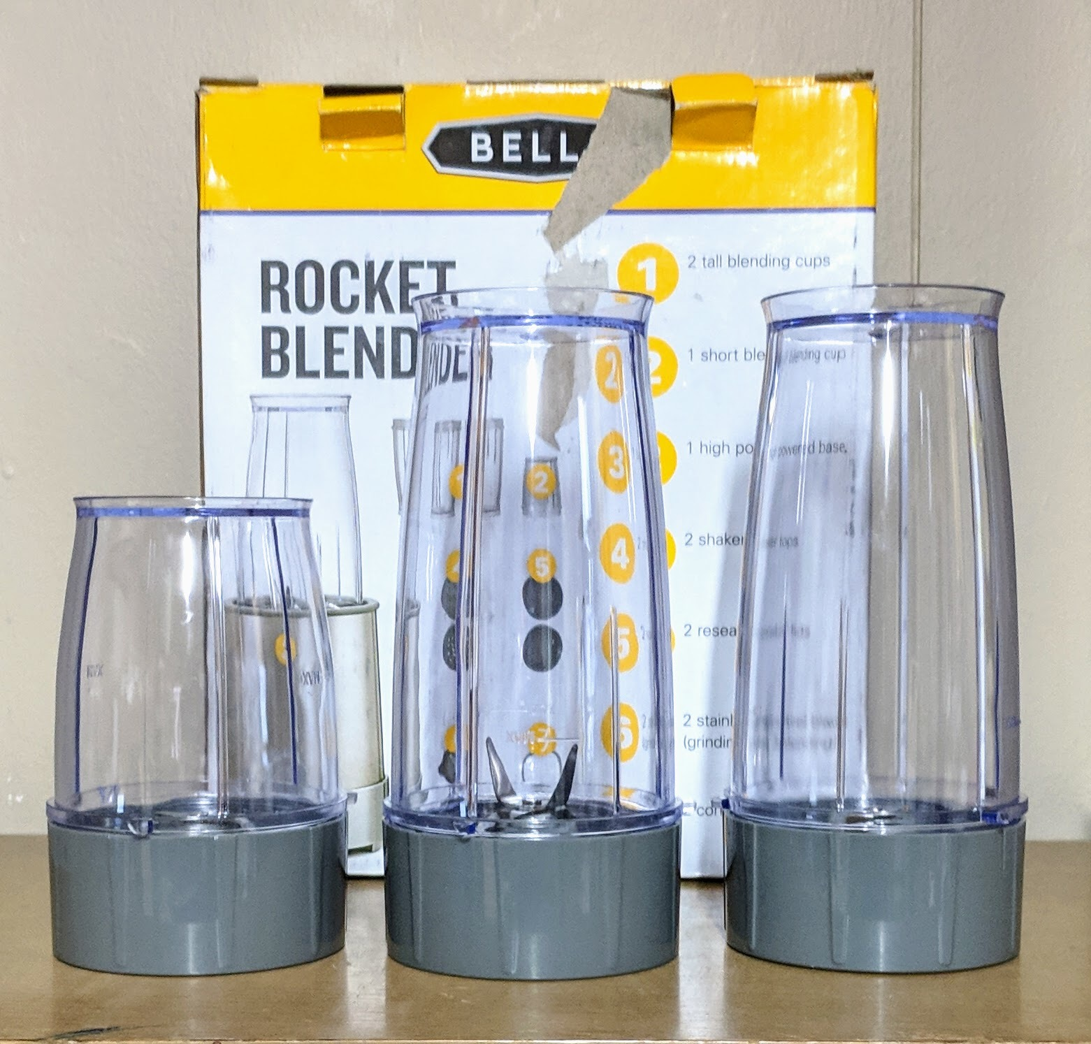 Bella Rocket Blender Replacement Cups and similar items