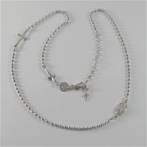 Chain Necklace Rosary 925 Silver & Steel by Cesare Paciotti Various Models image 4