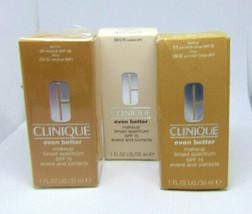 CLINIQUE EVEN BETTER Makeup Spf 15  1.0oz./30ml Choose Shade - $21.95