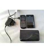 Lot Of 2 Téléphones Cellulaires Samsung & LG Noir avec / Chargeur & Étui... - $50.61