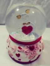 "SAN FRANCISCO MUSIC BOX Co. Crystal BEAR ""LOVE ME TENDER"" Valentine SNOW... - $13.98"