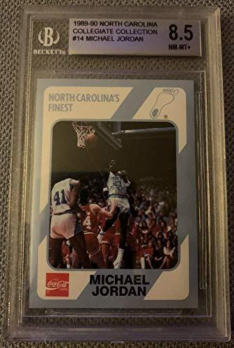 Primary image for Michael Jordan 1989 North Carolina #14 Collegiate Collection BGS 8.5 NM-MT+