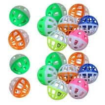 Colourful 18Pcs/Set 4cm Plastic Pet Cat Kitten Play Balls With Jingle Be... - $5.99