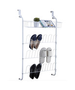 NEW! OVER THE DOOR SHOE RACK AND STORAGE BIN -12 PAIR SHOES ORGANIZER/DISPLAY - $19.75