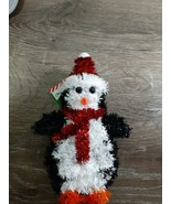 New Christmas House Penguin Christmas Ornament. Tinsel - $12.69